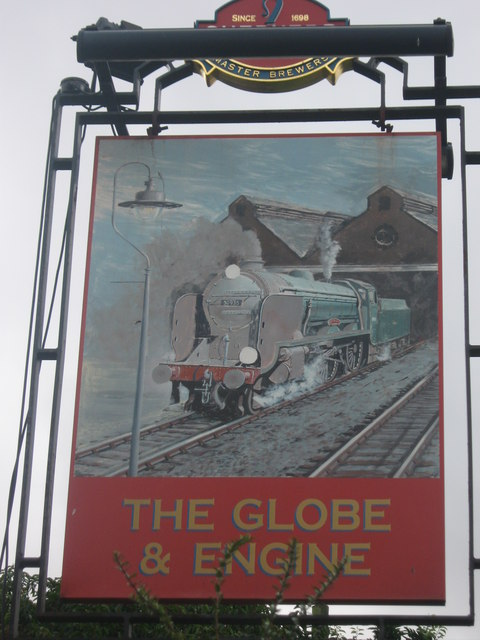The Globe and Engine Pub Sign
