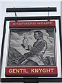 TR1357 : Gentil Knight Pub Sign by David Anstiss
