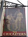 TR1458 : The Cricketers Pub Sign, Canterbury by David Anstiss