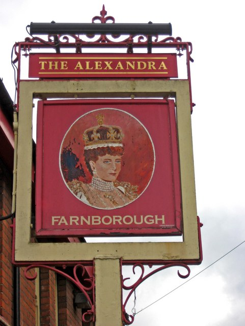 The Alexandra pub sign, 74 Victoria Road, Farnborough