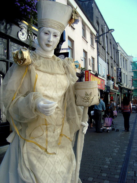 Mime Artist Galway City Louise Price Geograph Ireland