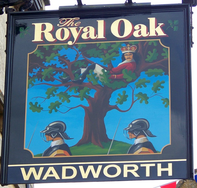 Sign for the Royal Oak, Corsham