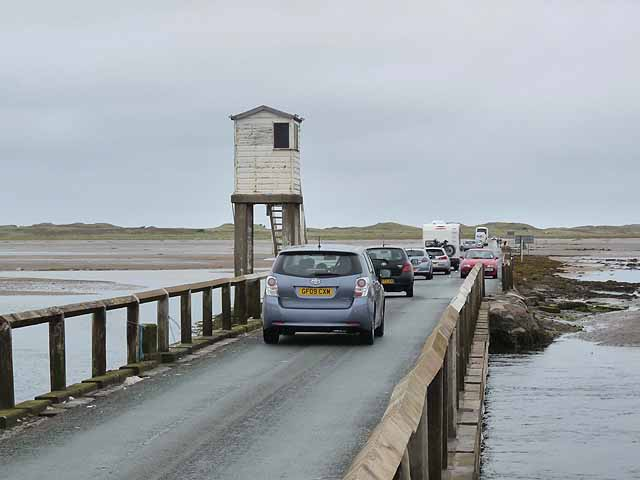Traffic jam on the Holy Island causeway:: OS grid NU0842 :: Geograph ...