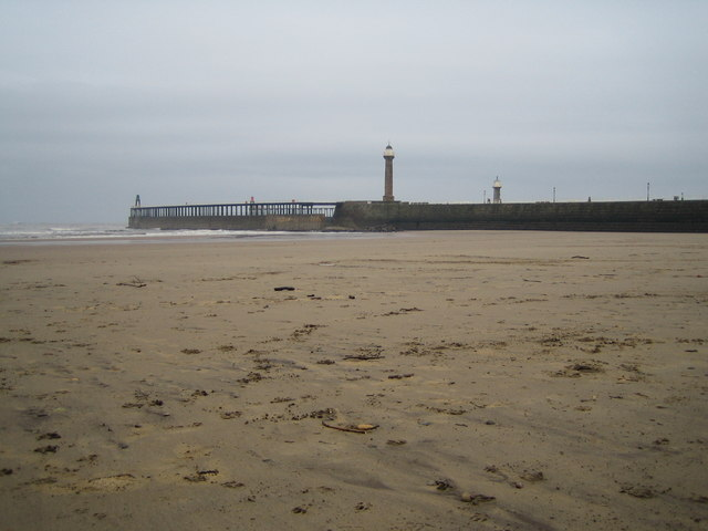 Whitby sands and West Pier