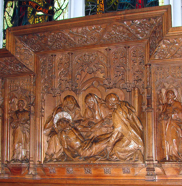 St Faith's church in Gaywood - the reredos (detail)