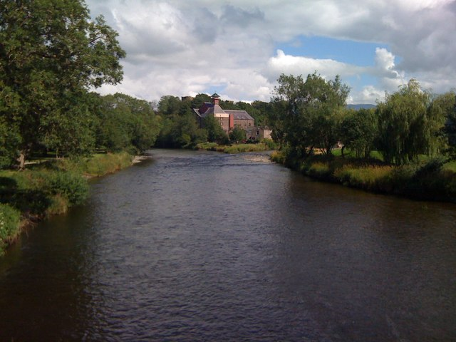 Jennings Brewery, Cockermouth, seen from the footbridge