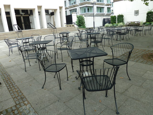 Empty Tables Outside The Cafe At Guards Museum
