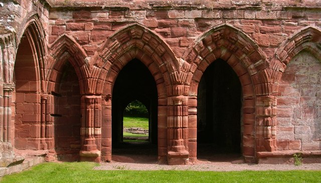 Sandstone arches in Furness Abbey