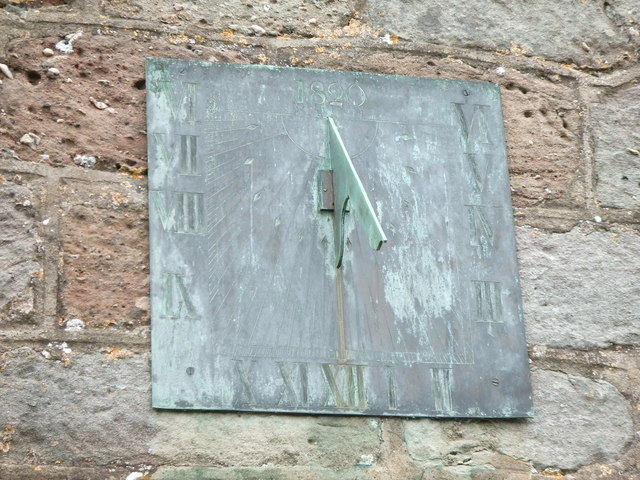 Sundial on Goodrich Church