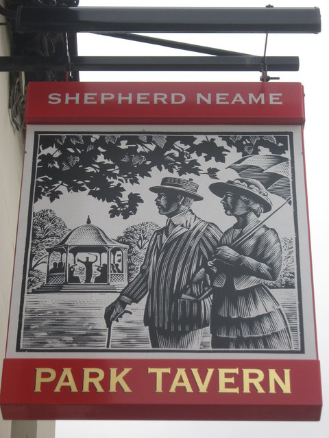Park Tavern, Sittingbourne Pub Sign