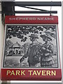 TQ9063 : Park Tavern, Sittingbourne Pub Sign by David Anstiss