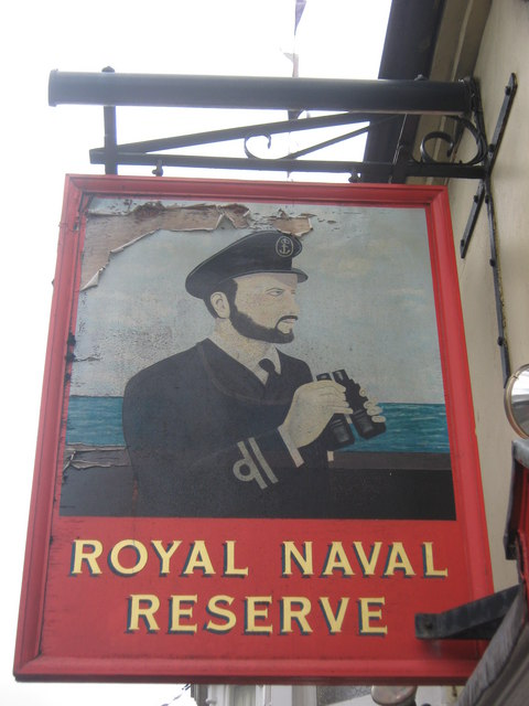 Royal Naval Reserve, Whitstable, Pub Sign