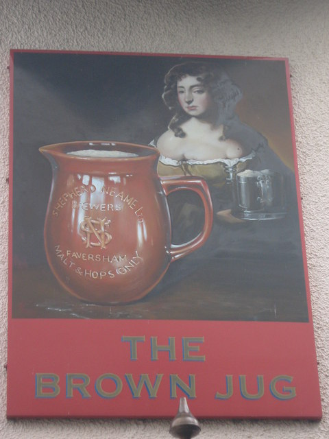 The Brown Jug, Upchurch, Pub Sign