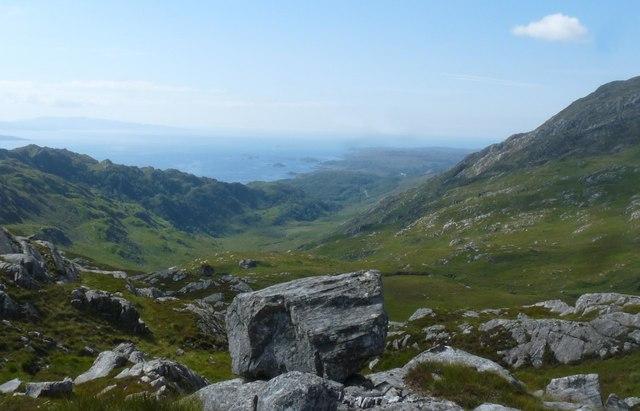 View from Beinn nan Caorach