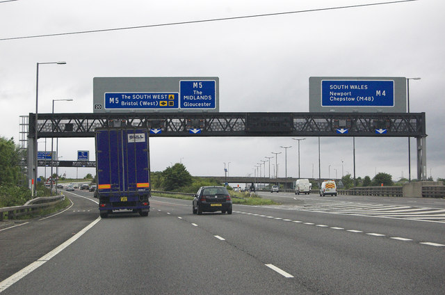 M4 Junction 20 westbound © Andrew Hackney :: Geograph ...