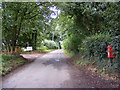 TM4274 : Thorington Road & The Church  Postbox by Adrian Cable