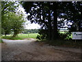 TM4274 : Footpath to New Farm & entrance to Church Farm by Adrian Cable