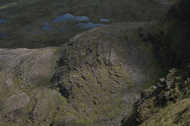 Beinn Alligin, the north flank of Na Rathanan