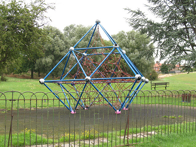 Contemporary climbing frame © Stephen Craven :: Geograph Britain and ...