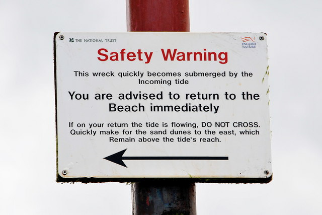 SS Vina - Safety warning sign