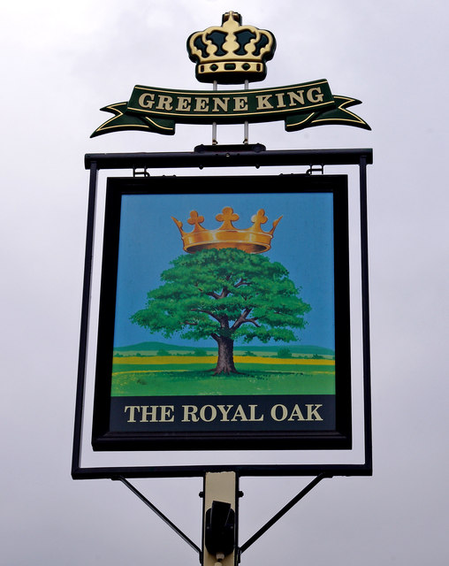 The Royal Oak (pub sign), 265 Kingston Road