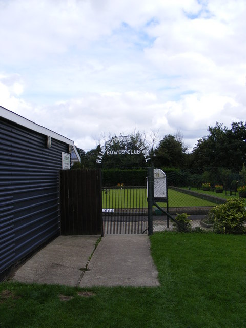 The entrance to Haleworth Angel Bowls Club