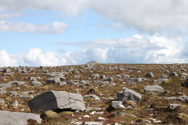 Cuilcagh Mountain Cairn and Landscape
