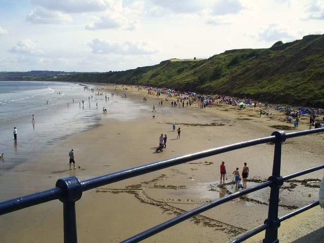 Muston Sands from the end of Filey promenade