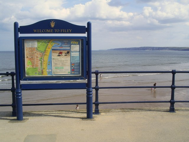 Information board at end of Filey promenade