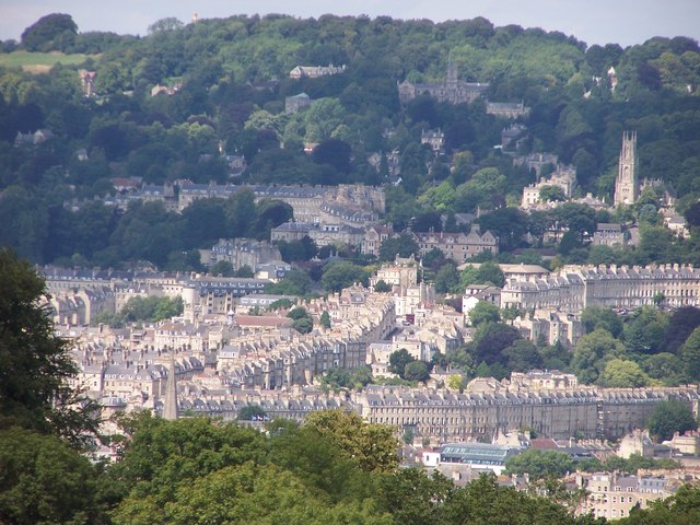 Bath; Lansdown Hill etc. from Prior Park