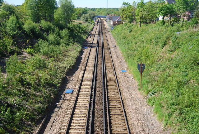 The Hastings line south of Frant Station