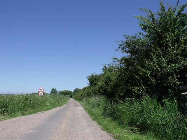 Lane to Barton Outdoor Centre
