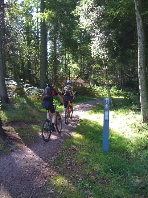 7 Stanes cyclists, Dalbeattie