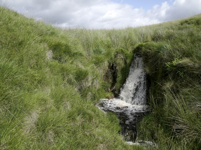 Small waterfall near the source of the Yarrow