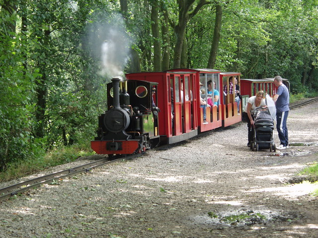 The miniature railway at Rudyard