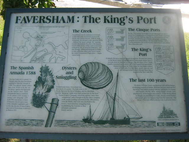 Faversham: The King's Port Information Board