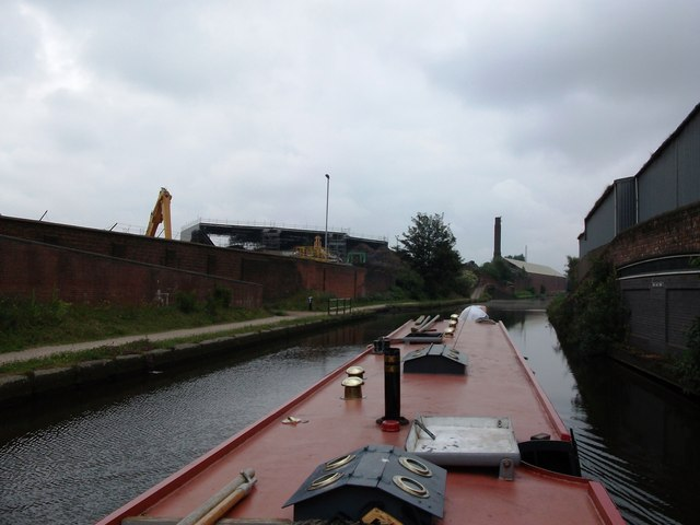 Soho Foundry seen from Rabone Lane Bridge
