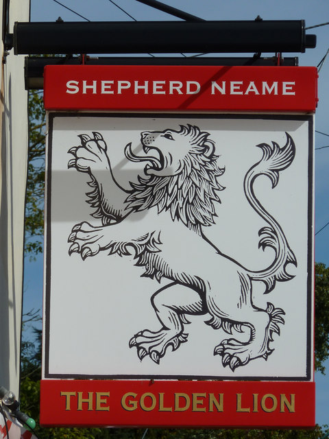 The Golden Lion sign