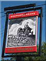 TQ8461 : The Harrow, Pub Sign, Stockbury by David Anstiss