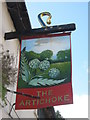 TR1054 : The Artichoke, Pub Sign, Chartham by David Anstiss