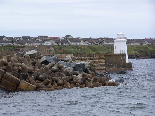 South Pier and lighthouse, Wick Harbour