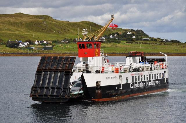 Sconser To Raasay Calmac Ferry Arriving Nicholas