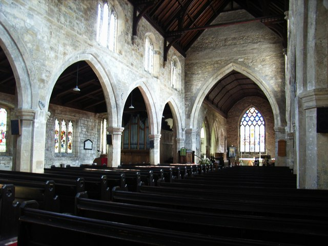 The nave at St Lawrence, Snaith
