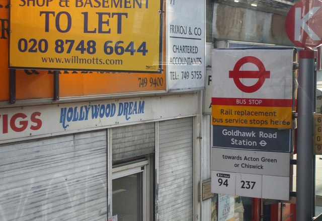 Goldhawk Road Station Bus Stop