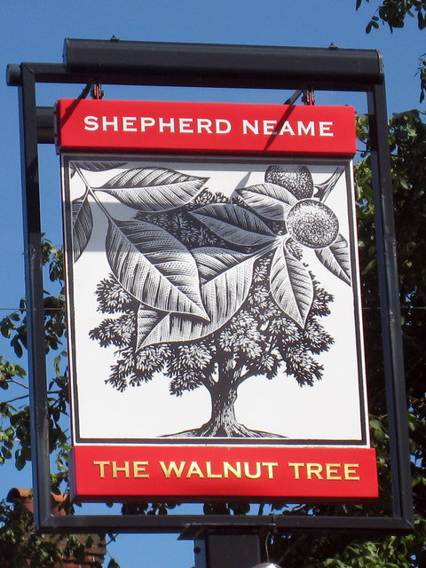 The Walnut Tree sign