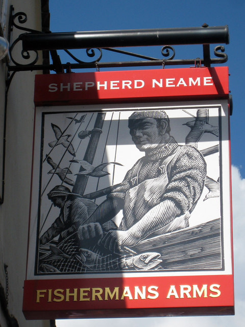 Fishermans Arms sign