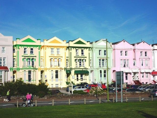 Colourful Guest Houses And Hotels Paignton Sea Front