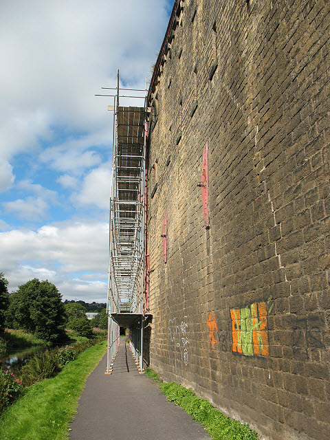 Canalside scaffold