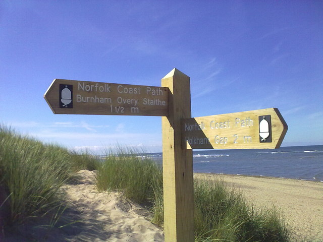 Norfolk Coast Path sign