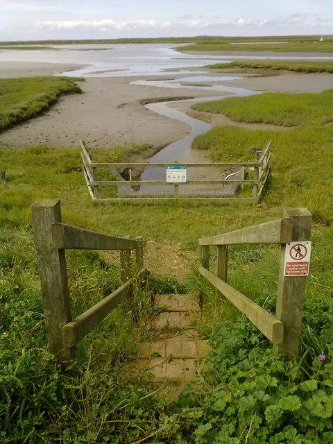 Steps leading to sluice